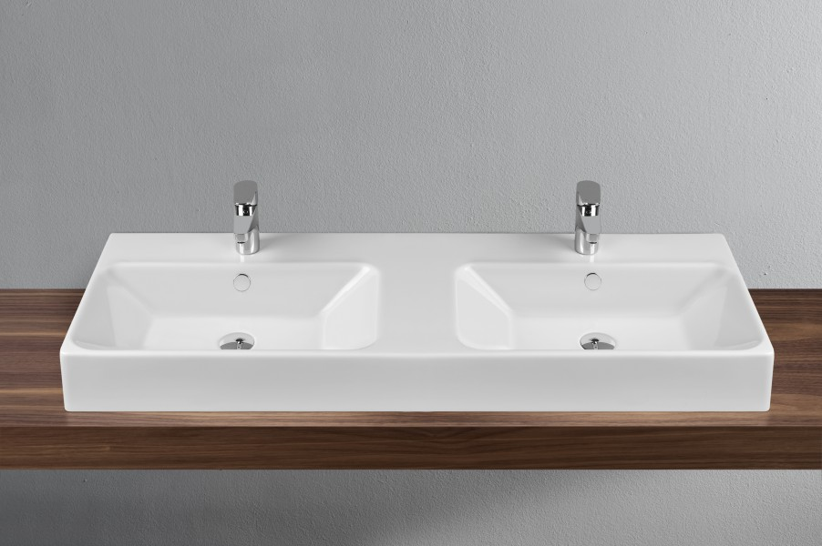 Plan de toilette double pour salle de bains OPTIONS VitrA
