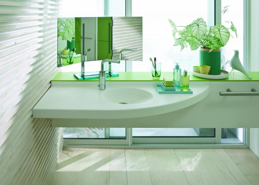 Lavabos plans de toilette de salle de bain fiche produit for Plan de toilette salle de bain