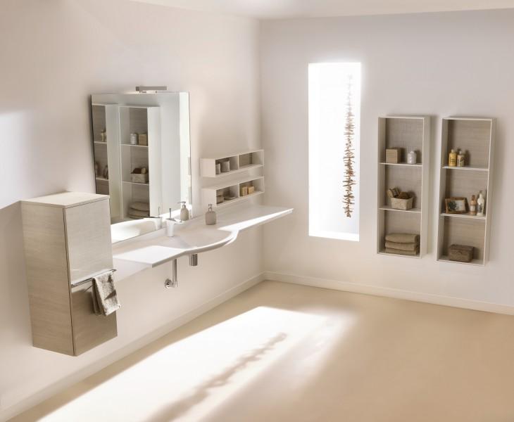 Plan de toilette accessible pour salle de bains EASYLIFE d'Ambiance Bain