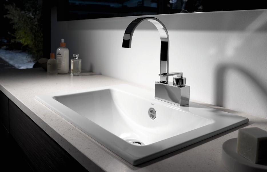 Vasque à encastrer par-dessus pour salle de bains EB.R585H d'Alape