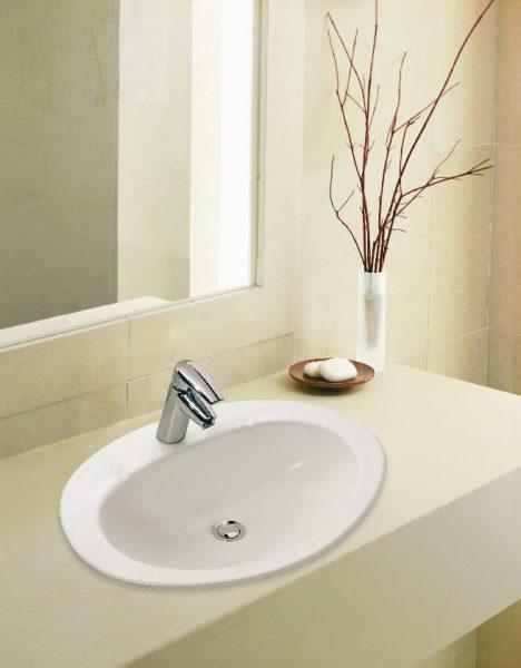 Vasque à encastrer par-dessus pour salle de bains OVALE de Jacob Delafon