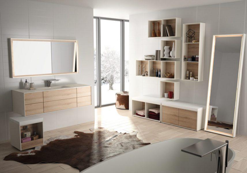 Armoire miroir accessible de salle de bains KITOI d'Ambiance Bain