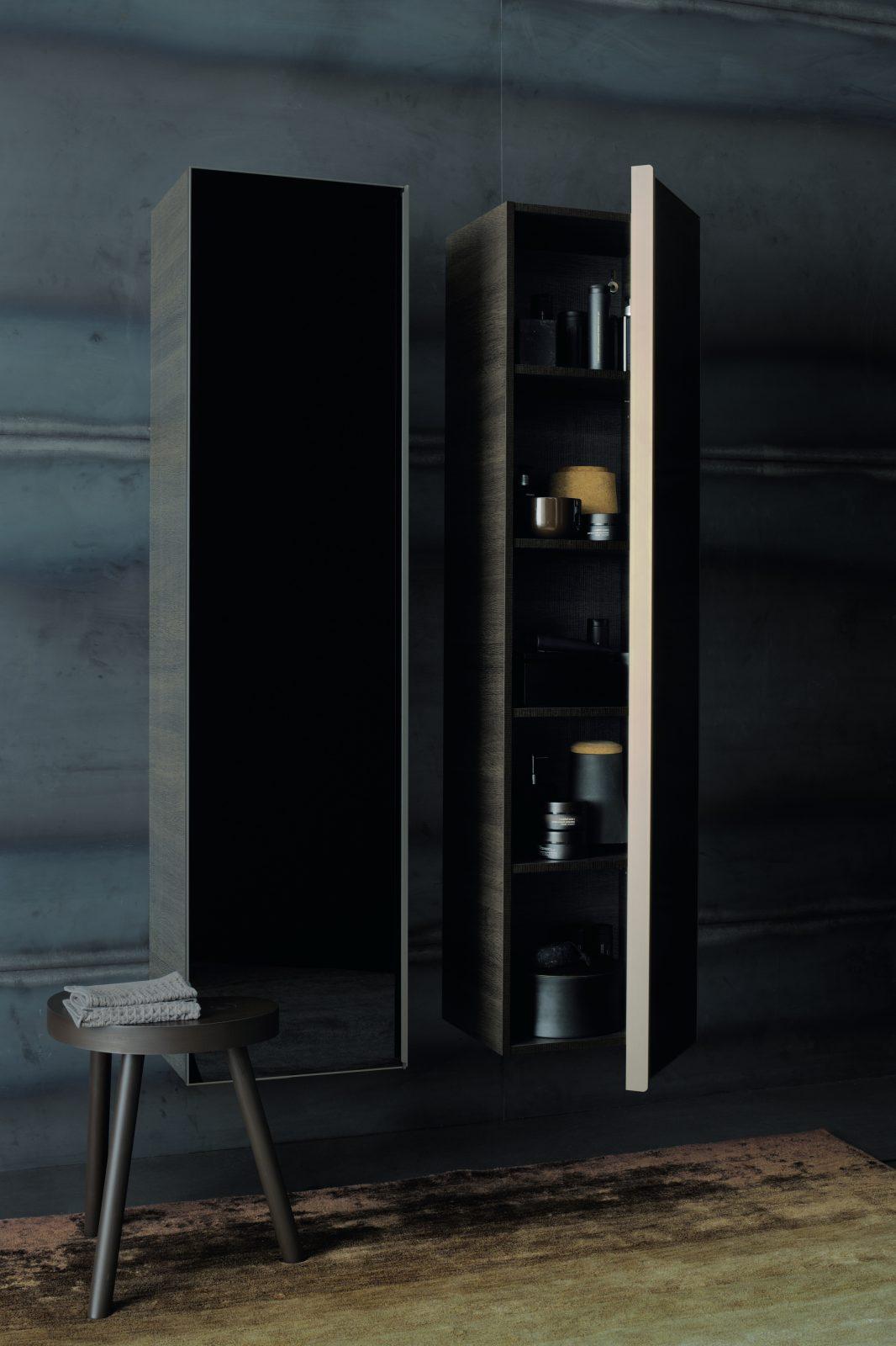 Meuble colonnes de salle de bains fiche produit for Colonne miroir pivotant