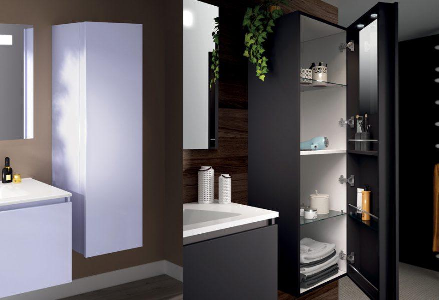 Meuble colonne de salle de bains MINERAL d'Aquarine