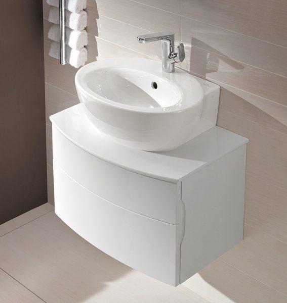 Mobilier de salle de bains gain de place AVEO NEW GENERATION de Villeroy & Boch
