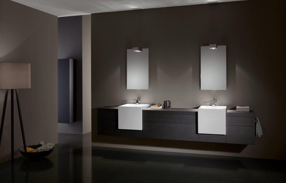 Mobilier double de salle de bains A SYSTEM ADDIT d'Alape