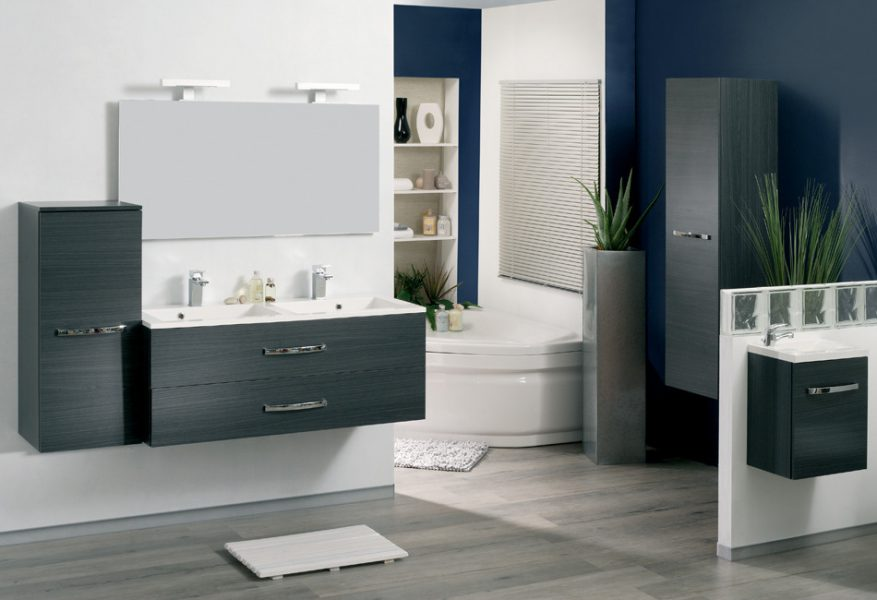 Mobilier double de salle de bains ADEPT d'Allibert
