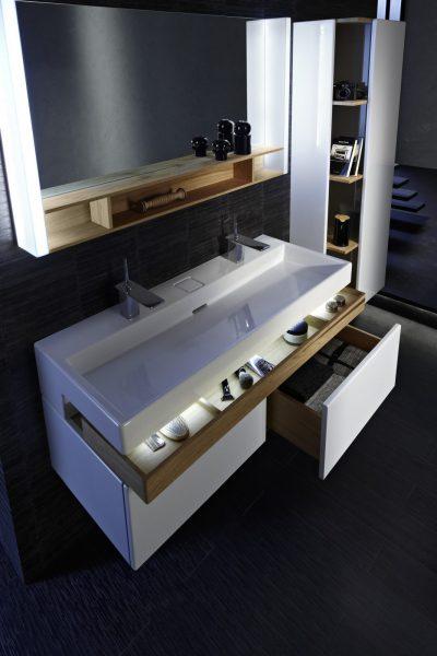 Mobilier double de salle de bains TERRACE de Jacob Delafon