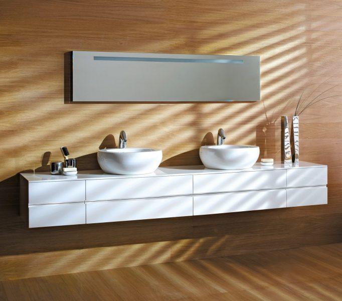 Mobilier double de salle de bains ILBAGNOALESSI ONE de Laufen