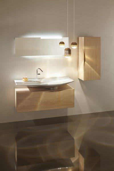Sous-plan indépendant du plan de toilette pour salle de bains STILLNESS de Jacob Delafon