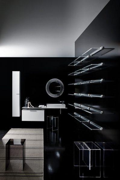 Sous-plan indépendant du plan de toilette pour salle de bains KARTELL BY LAUFEN