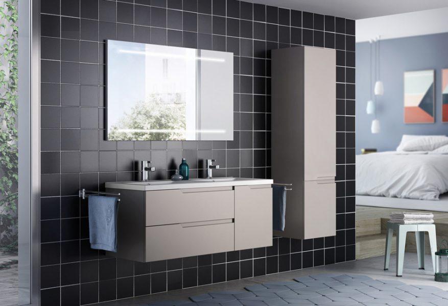 Mobilier de salle de bains suspendu MATRICE d'Aquarine