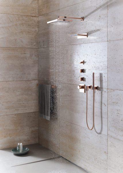 Ensemble encastré de robinetterie hydro pour salle de bains MEM de Dornbracht
