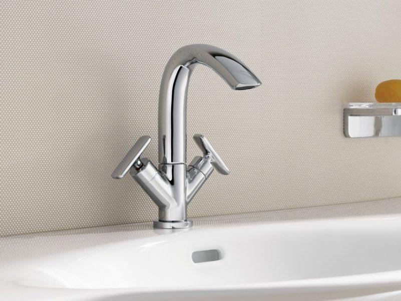 Robinet mélangeur mono-trou pour salle de bains CURVEPRIME de Laufen