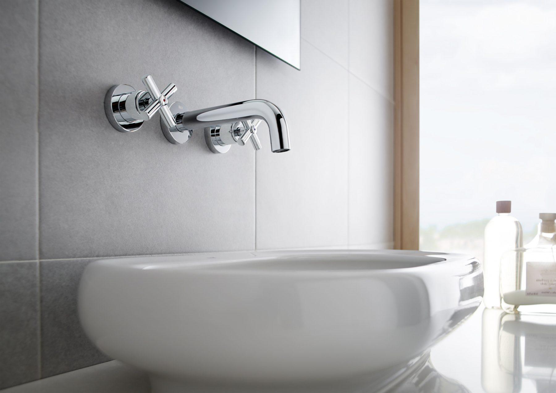 robinet m langeur 3 trous pour salle de bains loft de roca. Black Bedroom Furniture Sets. Home Design Ideas