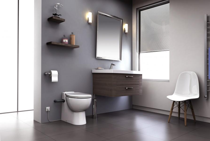 WC avec broyeur intégré COMPACT de SFA