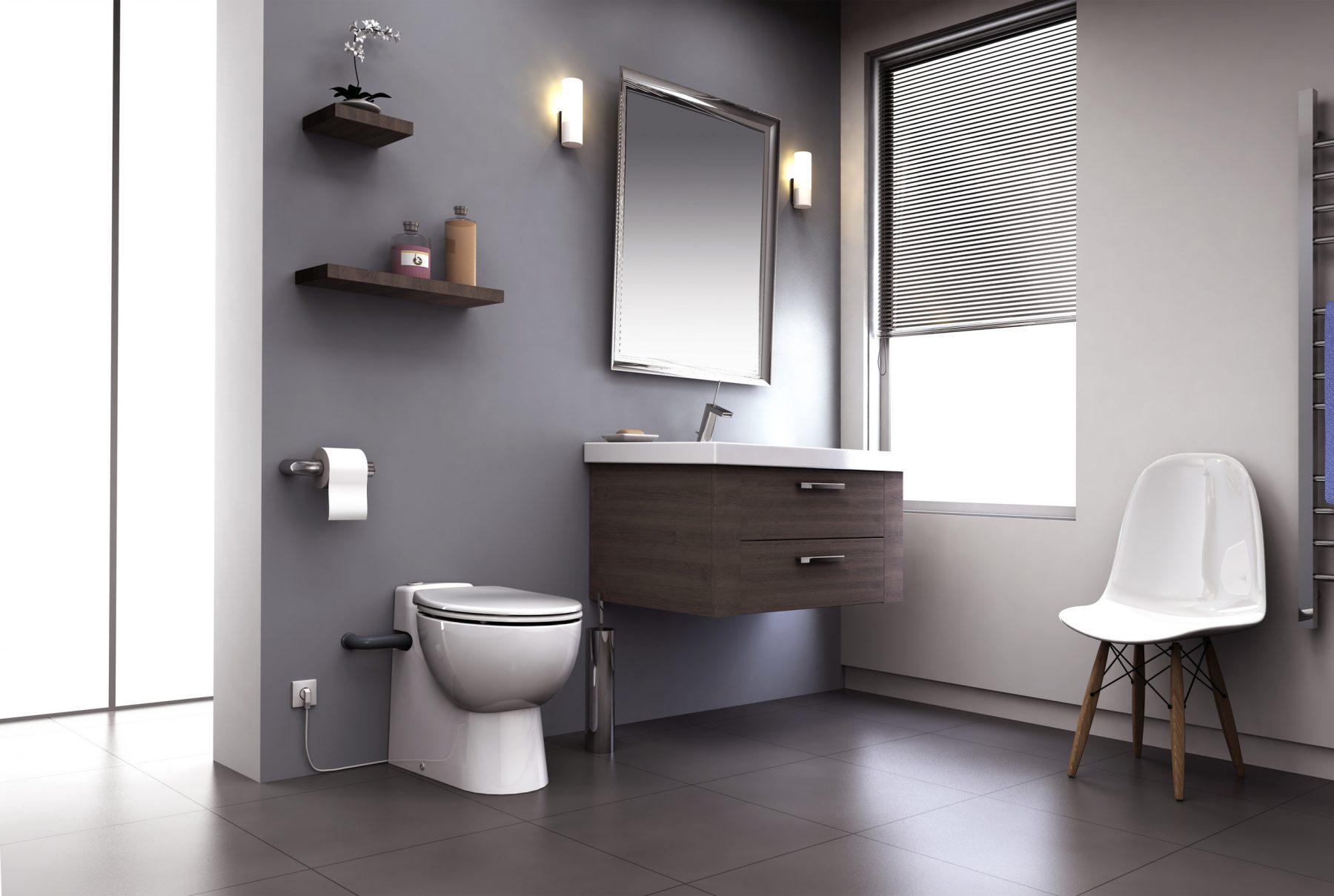 fiche produit de la salle de bains wc broyeur int gr s. Black Bedroom Furniture Sets. Home Design Ideas