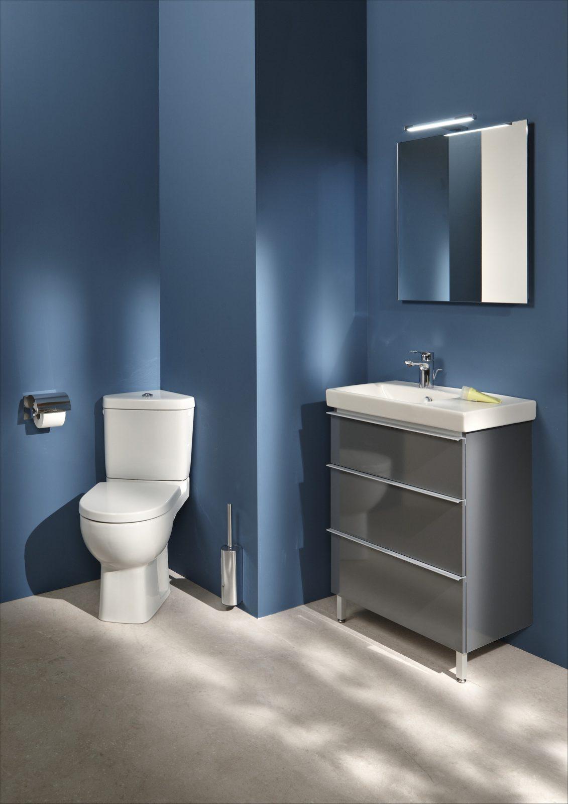 WC d'angle dans la salle de bain : fiche produit | salledebains.fr