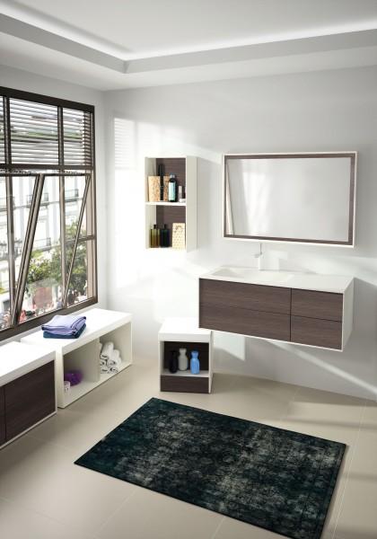 Mobilier suspendu pour salle de bains KITOI d'Ambiance Bain