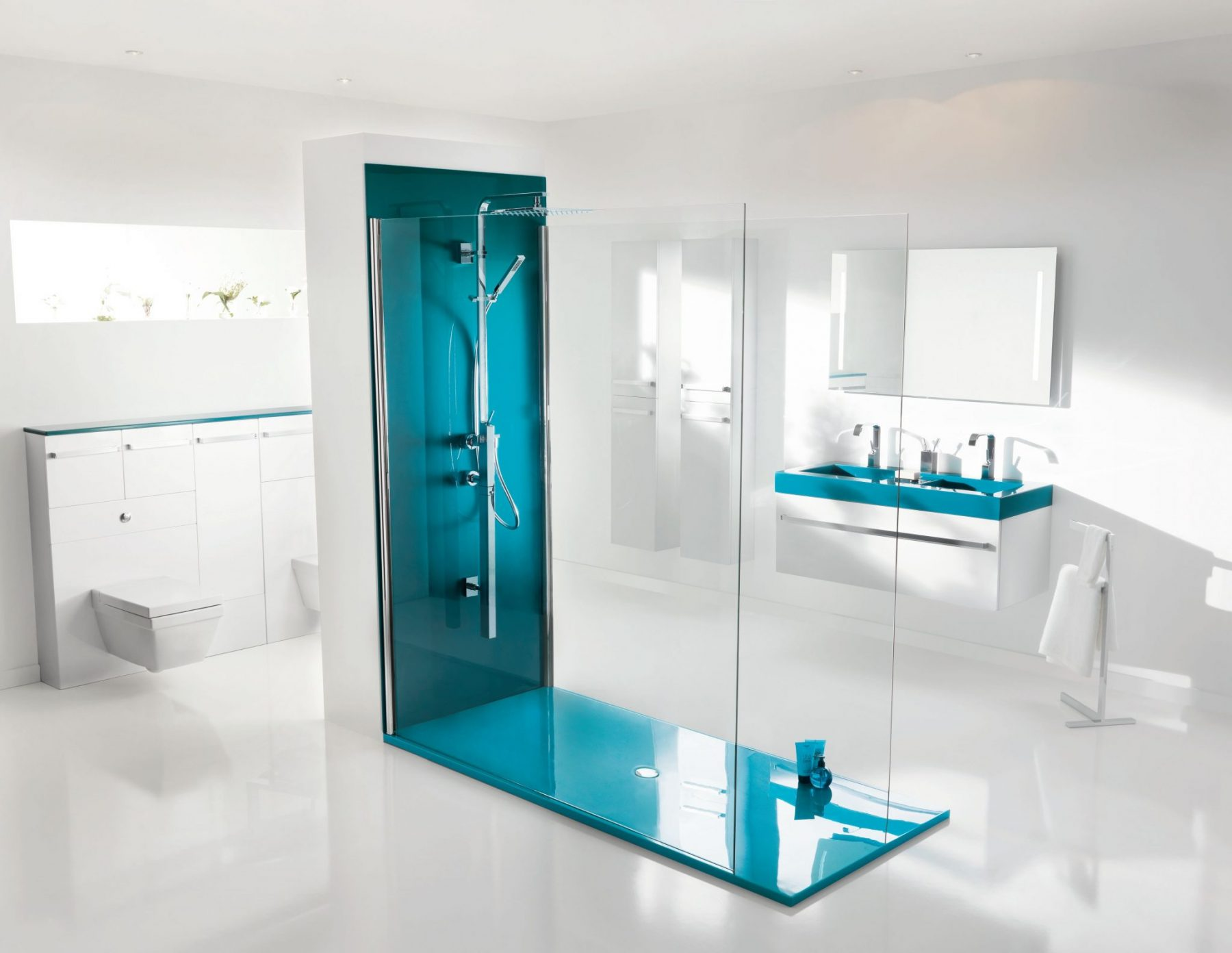 Belle salle de bain contemporaine for Belle douche italienne