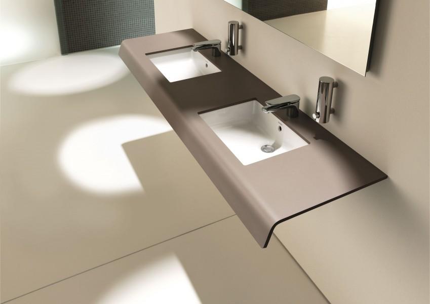 Plan + vasque accessible salle de bain Durastyle Duravit