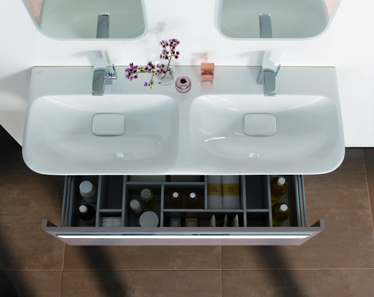 Plan de toilette de salle de bain double Lovely d'Allia