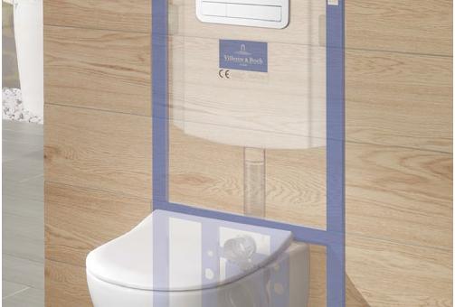 WC avec schéma du bâti-support VICONNECT de Villeroy & Boch