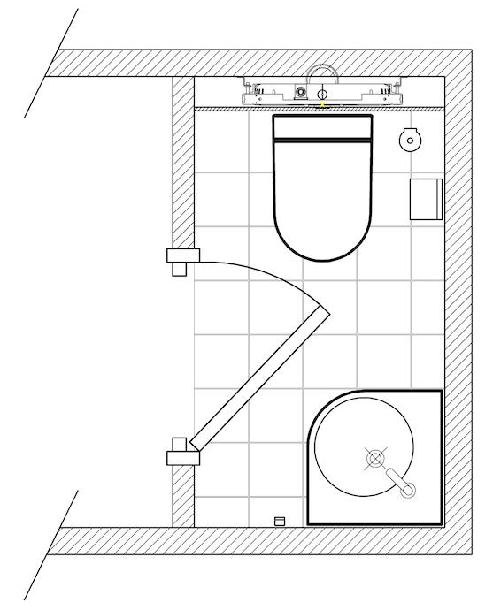 exemple de plans de salles de bain pour am nagement des wc