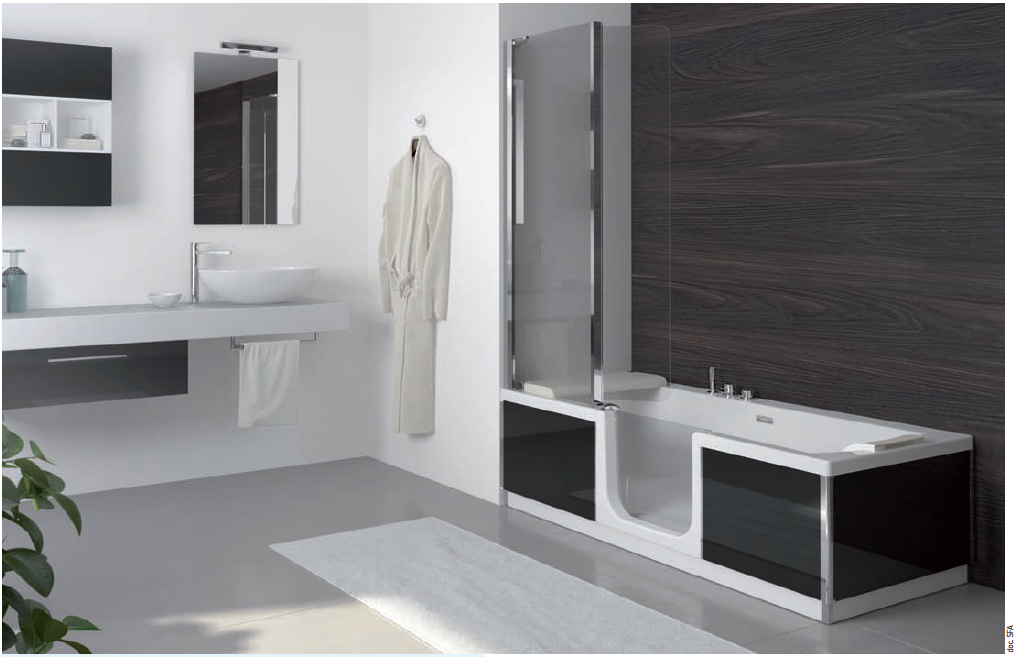 Saniduo de sfa sanilife le concept bain douche pour toute la famille sall - Panneaux muraux pour salle de bain ...