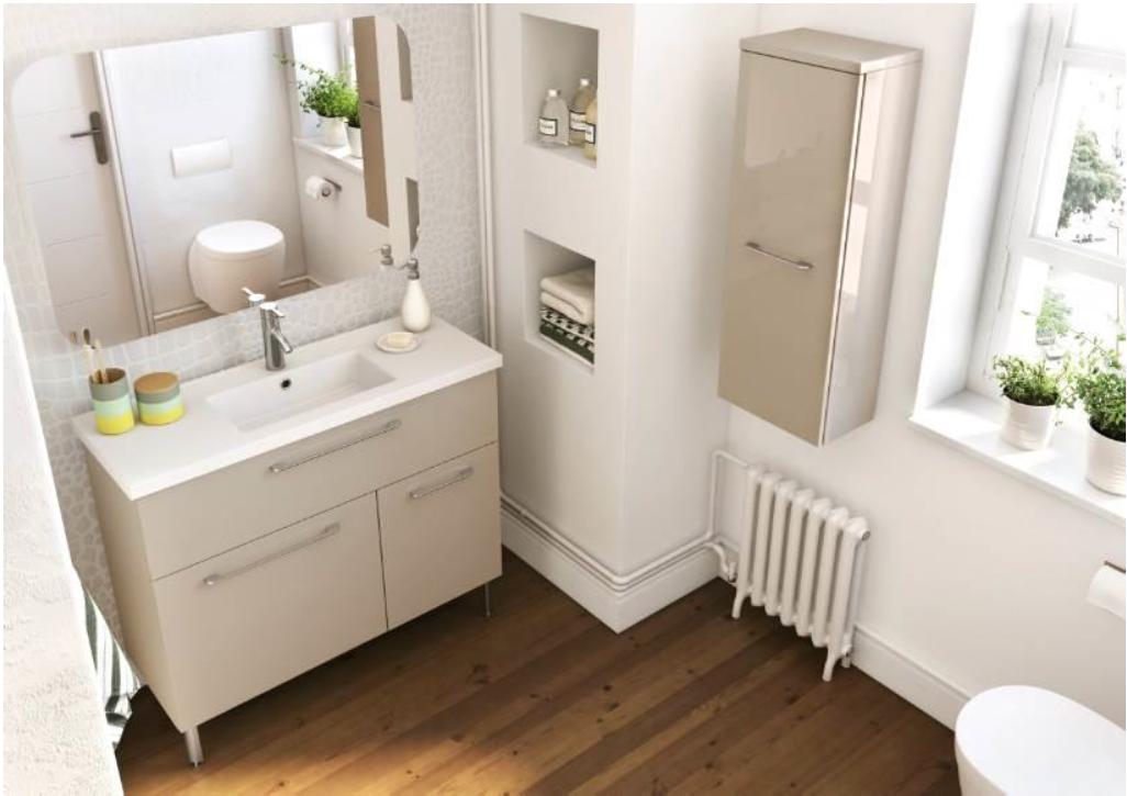 brookline fit line d aquarine le meuble des salles de bains citadines. Black Bedroom Furniture Sets. Home Design Ideas