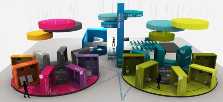 Plan 3D de l'espace solutions de modesdebains