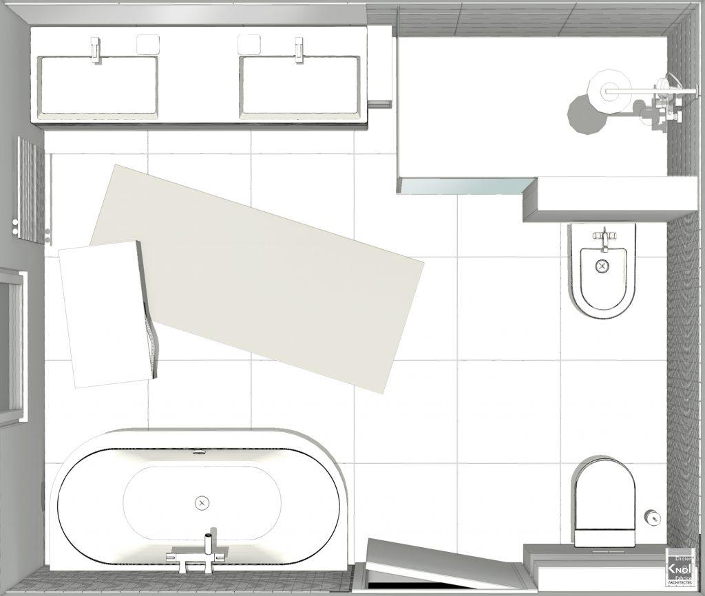 Exemple de plans de grandes salles de bain avec image 3d - Plan salle de bain avec wc ...