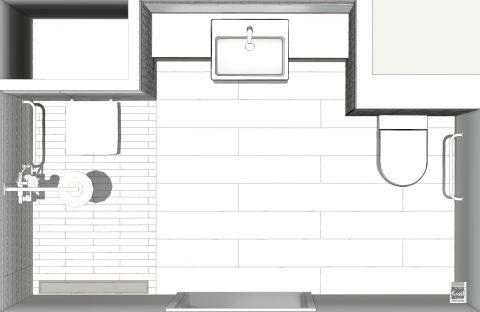 Plan de salle de bains accessible