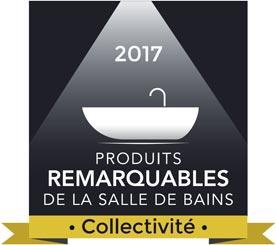 Logo produit remarquable de la salle de bains 2017, collectivité