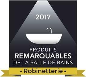 Logo produit remarquable de la salle de bains 2017, robinetterie
