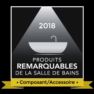 Logo Produits remarquables de la salle de bains 2018, Composants