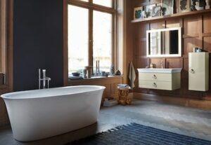salle de bains avec meuble et baignoire White Tulip de Duravit