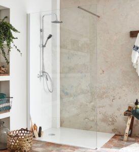 douche avec receveur plat Brive Aerobloc de Jacob Delafon